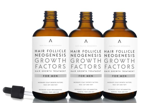 Hair Follicle Neogenesis Growth Factors Hair Growth Treatment for Men 3 month supply